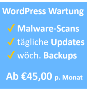 Professionelle WP Wartung